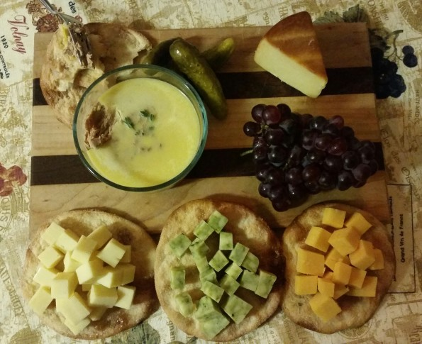 A Literary Feast -- cheese and pate plate