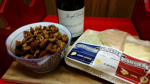A Literary Feast -- spiced nuts and cheese