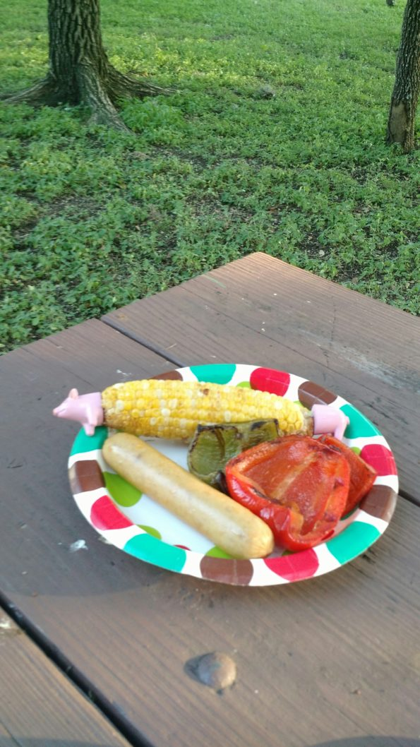 A Literary Feast -- grilled veggies
