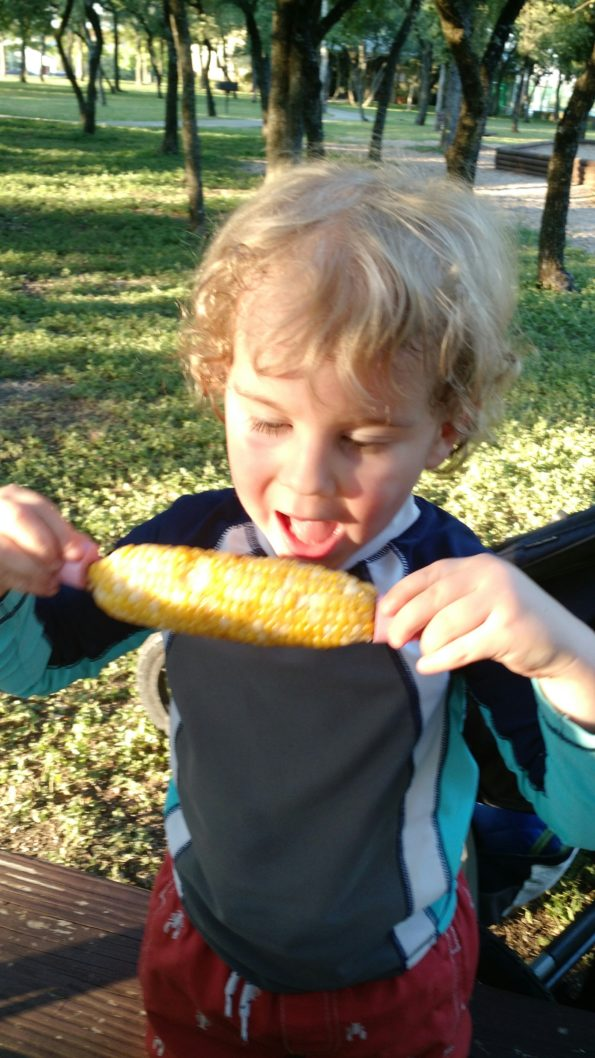 A Literary Feast -- corn on the cob