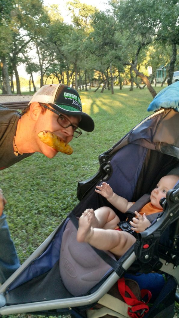 A Literary Feast -- dad and baby
