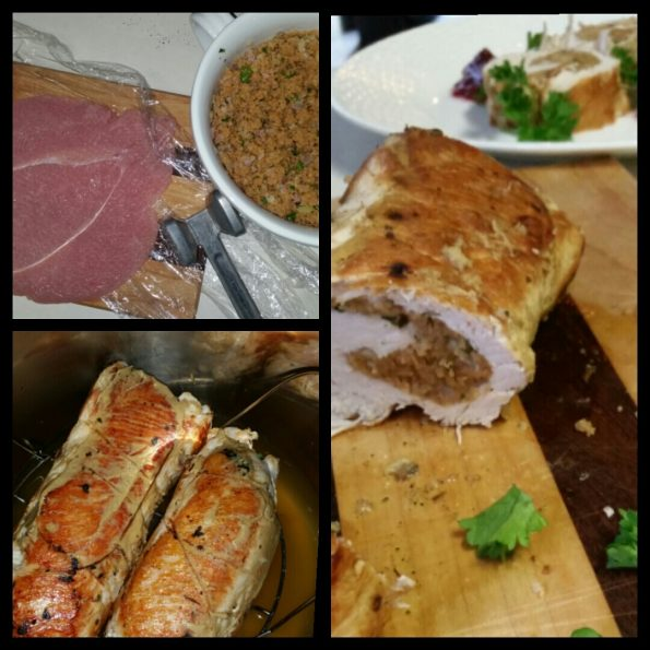 A Literary Feast -- stuffed turkey breast