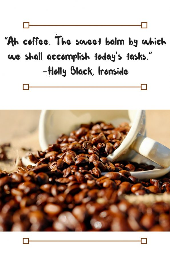 A Literary Feast -- coffee quotes
