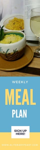 A Literary Feast -- weekly meal plan