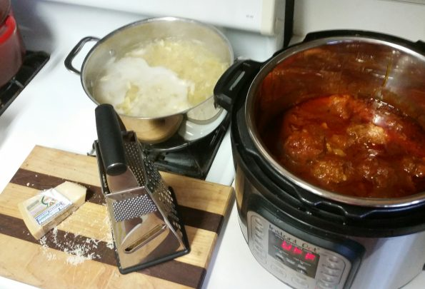 A Literary Feast -- Edgar and Lucy, meatballs, pasta, farfalle, book review, book contest, literature, recipes, dinner