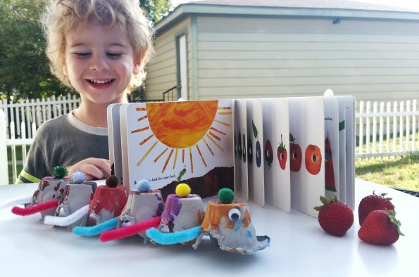 A Literary Feast | The Very Hungry Caterpillar | kid crafts and activities | books for kids | book review | kid friendly recipes