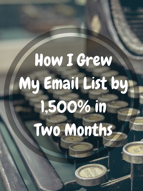 How I Increased My Email List by 1,500% in Two Months