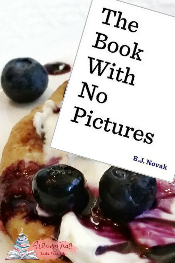 A Literary Feast | blueberry pizza with book